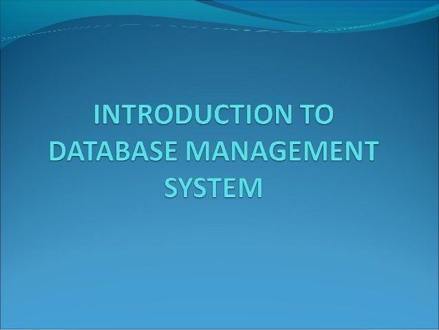 Database Management System Introduction