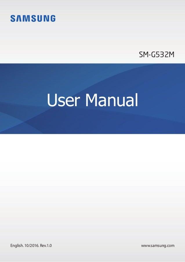 www.samsung.com User Manual English. 10/2016. Rev.1.0 SM-G532M
