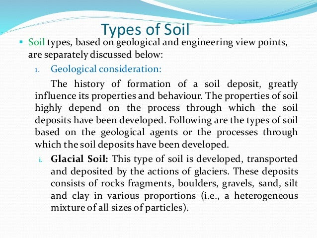 Introduction and types of soil mechanics for Introduction of soil
