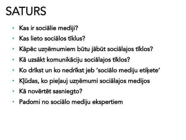 Sociālie mediji un to izmantojums sabiedriskajās attiecībās, reklāmā un mārketingā 2.0 Slide 2
