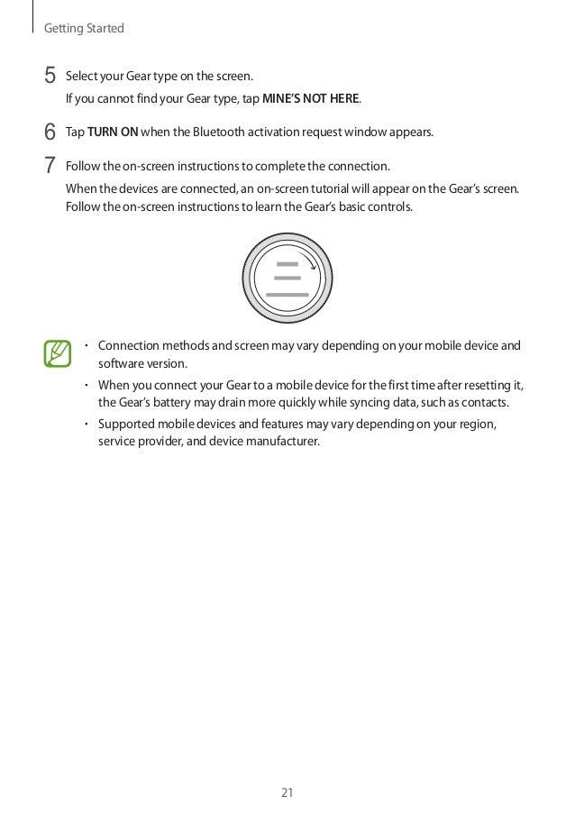 Gear Sport smartwatch user manual SM-R600
