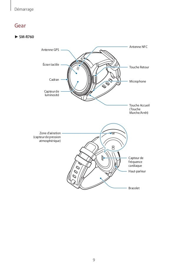 Samsung Gear S3 User Manual Sm R760 R770 in French