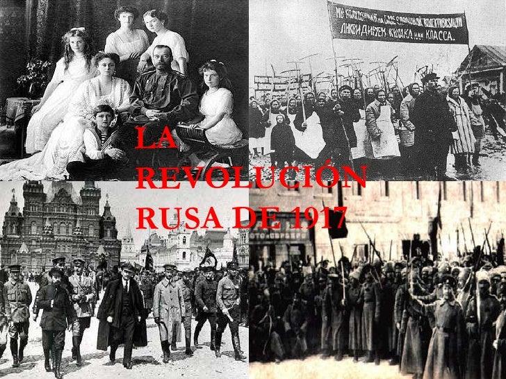 LA REVOLUCIÓN RUSA DE 1917