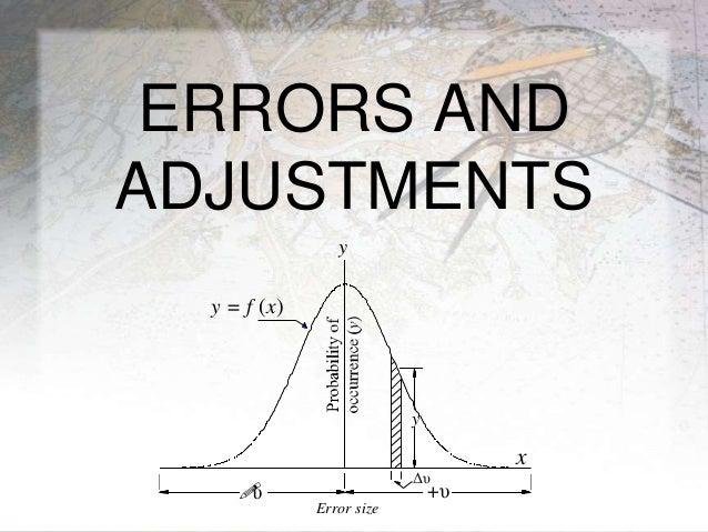 ERRORS AND ADJUSTMENTS +υυ y = f (x) y Error size x Δυ y