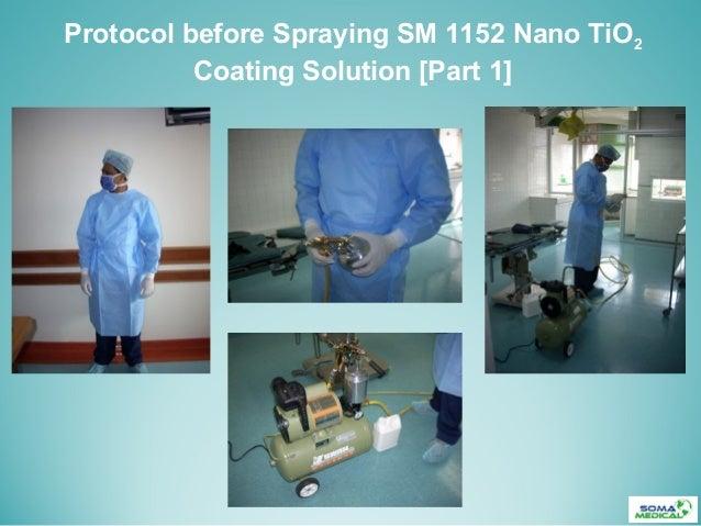 Protocol before Spraying SM 1152 Nano TiO2Coating Solution [Part 1]