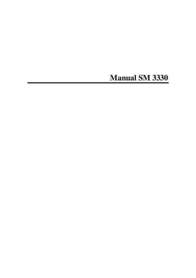 Manual SM 3330