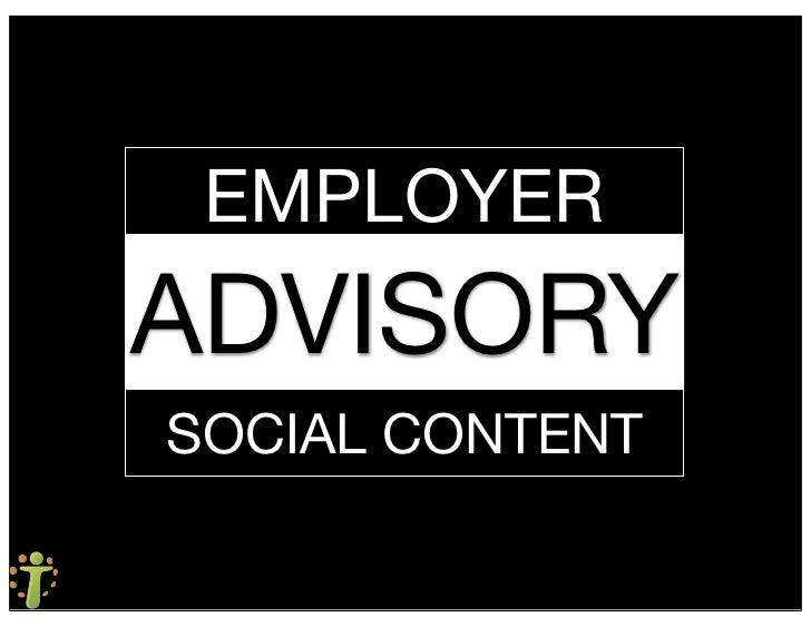 EMPLOYER ADVISORY SOCIAL CONTENT