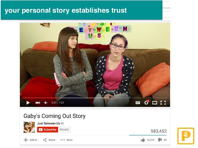 your personal story establishes trust