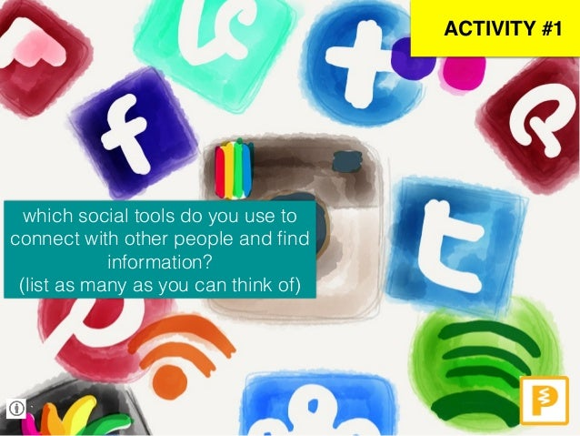 ` ACTIVITY #1 which social tools do you use to connect with other people and find information? (list as many as you can thi...