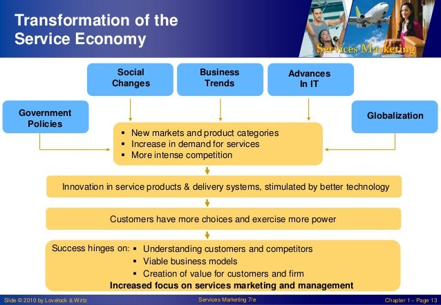Transformation of the Service Economy Social Changes Government Policies  Business Trends  Advances In IT  Globalization ...