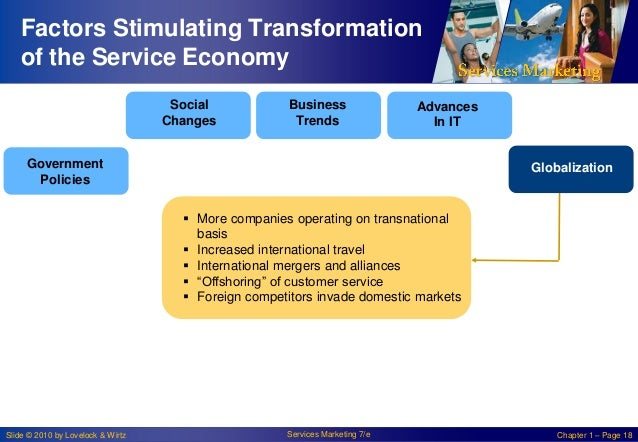Factors Stimulating Transformation of the Service Economy Social Changes  Business Trends  Advances In IT  Government Poli...