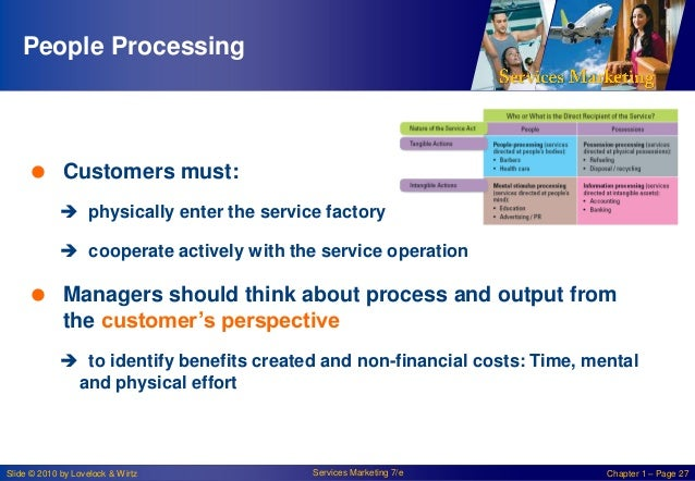 People Processing   Customers must:  physically enter the service factory  cooperate actively with the service operatio...