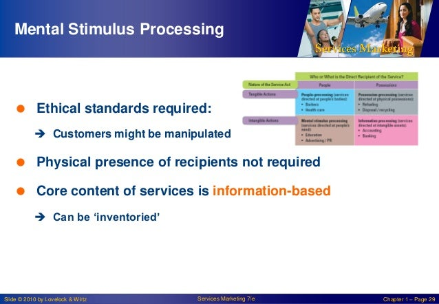 Mental Stimulus Processing   Ethical standards required:  Customers might be manipulated   Physical presence of recipie...
