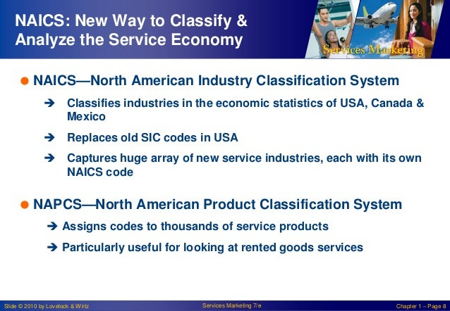NAICS: New Way to Classify & Analyze the Service Economy  NAICS—North American Industry Classification System  Classifie...