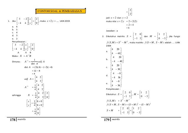 Soal Un Matematika Sma Tahun 2014 Dan Pembahasannya