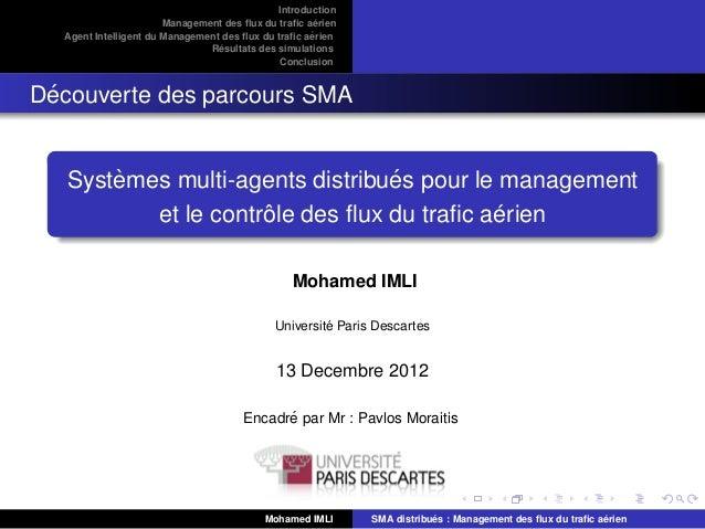 Introduction                                                     ´                       Management des flux du trafic aerie...