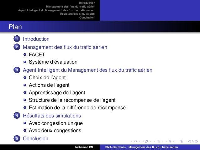 Systèmes multi-agents & flux du trafic aérien Slide 2