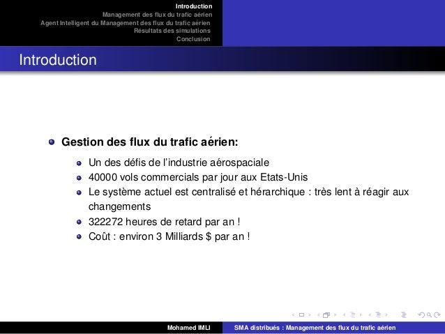 Systèmes multi-agents & flux du trafic aérien Slide 3