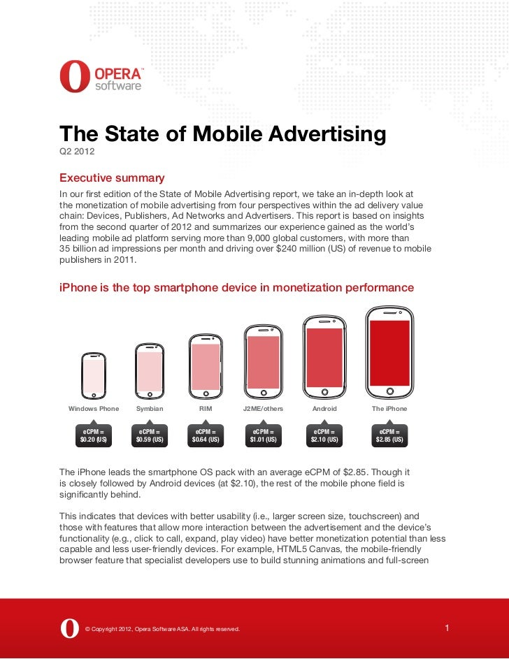 The State of Mobile AdvertisingQ2 2012Executive summaryIn our first edition of the State of Mobile Advertising report, we ...