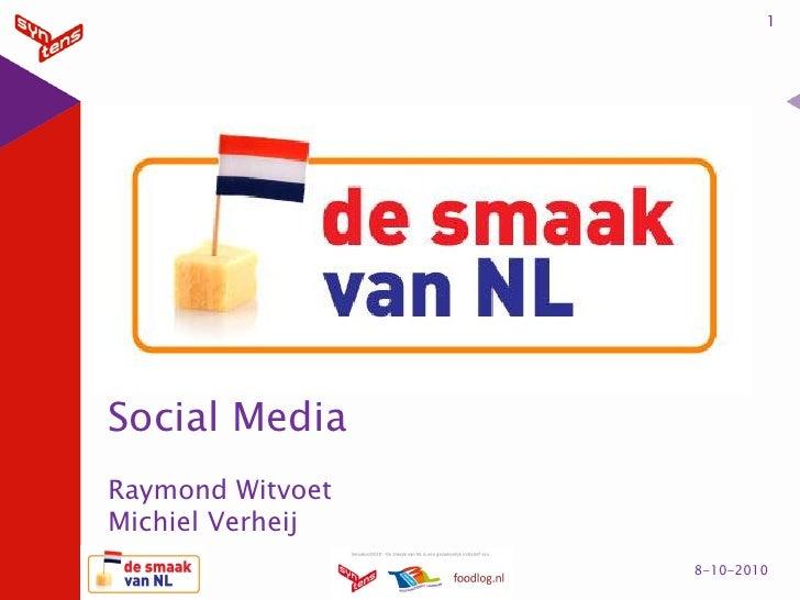 Smaak van NL Social Media Syntens