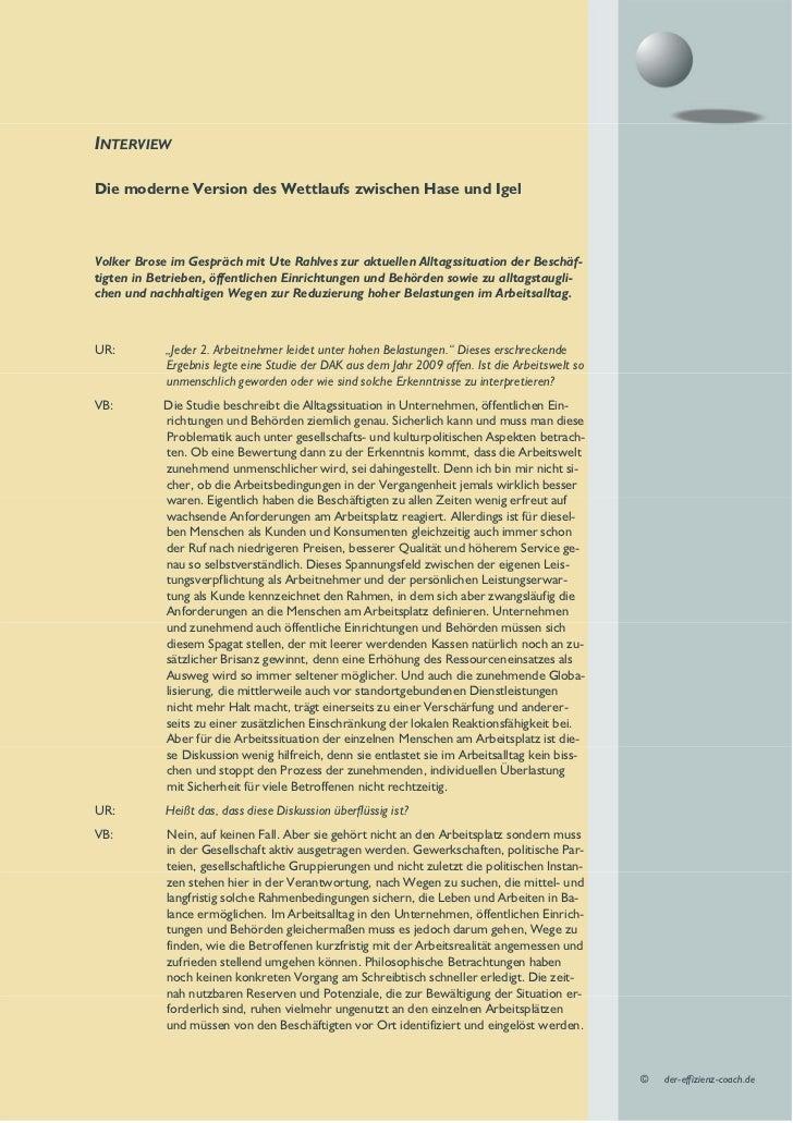 INTERVIEWDie moderne Version des Wettlaufs zwischen Hase und IgelVolker Brose im Gespräch mit Ute Rahlves zur aktuellen Al...