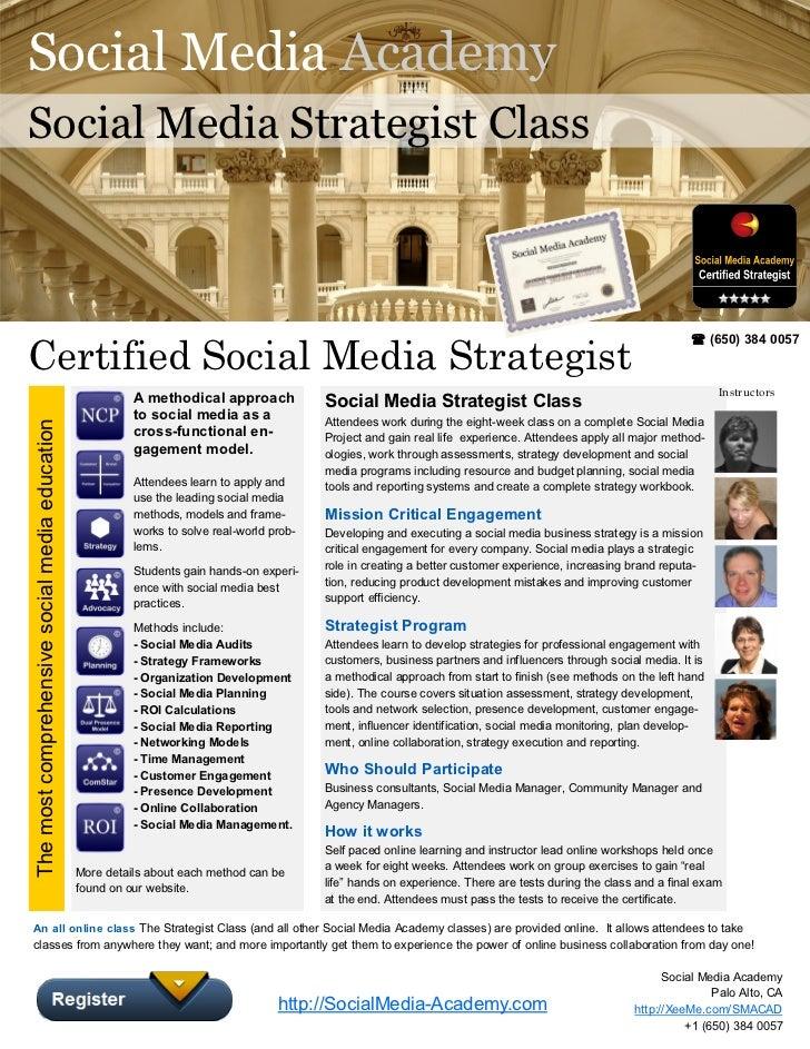 Social Media AcademySocial Media Strategist ClassCertified Social Media Strategist                                        ...