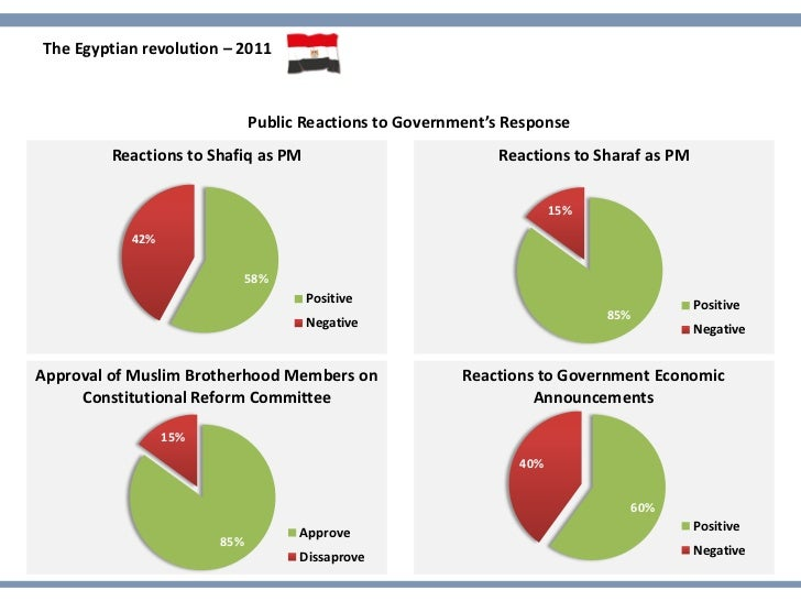 The Egyptian revolution – 2011                             Public Reactions to Government's Response         Reactions to ...