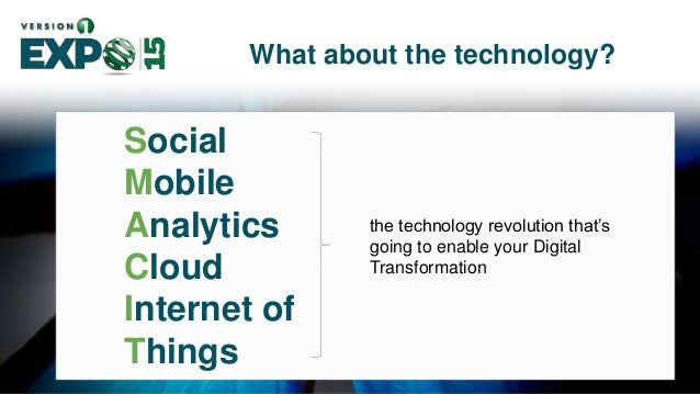 12 Social Mobile Analytics Cloud Internet of Things What about the technology? Connection