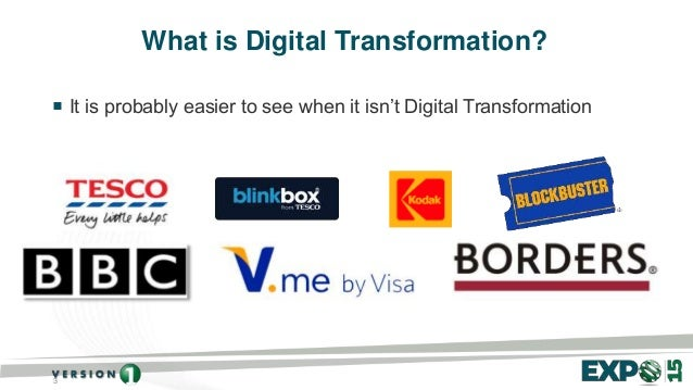 3 What is Digital Transformation?  It is probably easier to see when it isn't Digital Transformation