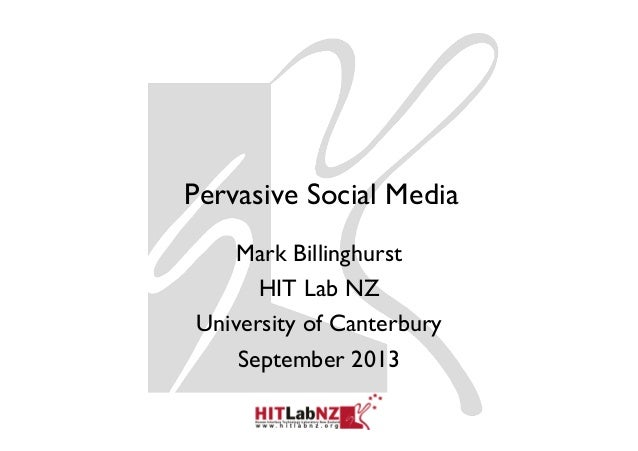 Pervasive Social Media Mark Billinghurst HIT Lab NZ University of Canterbury September 2013
