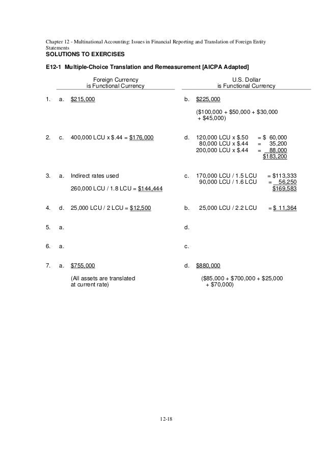 advanced accounting chapter 6 solutions pdf