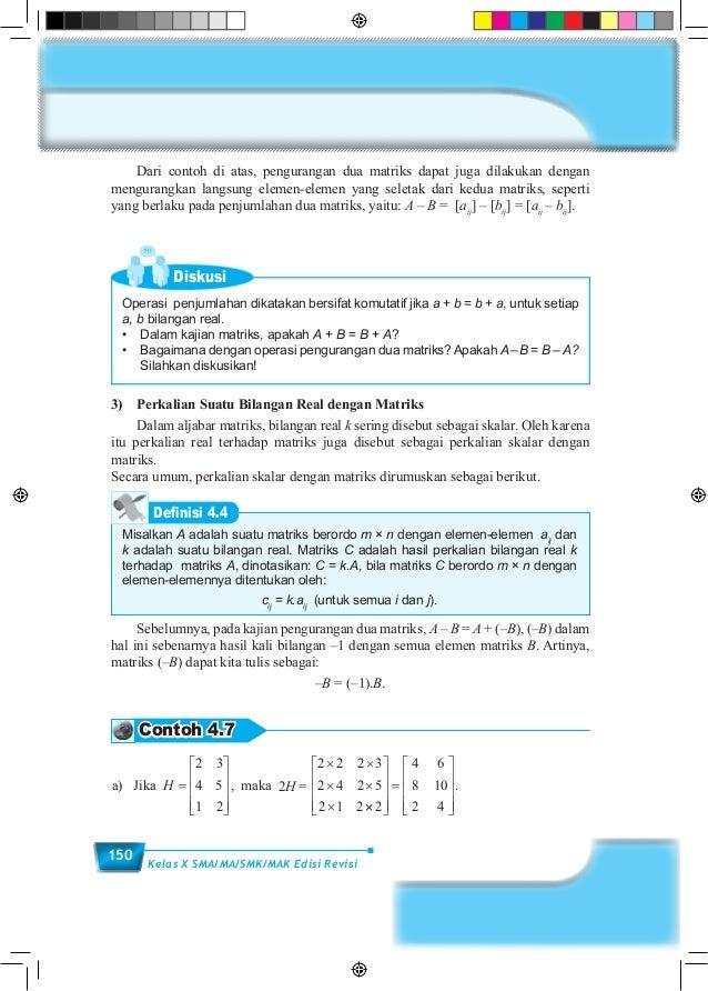 Buku matematika sma kelas 10 semester 1 kurikulum 2013