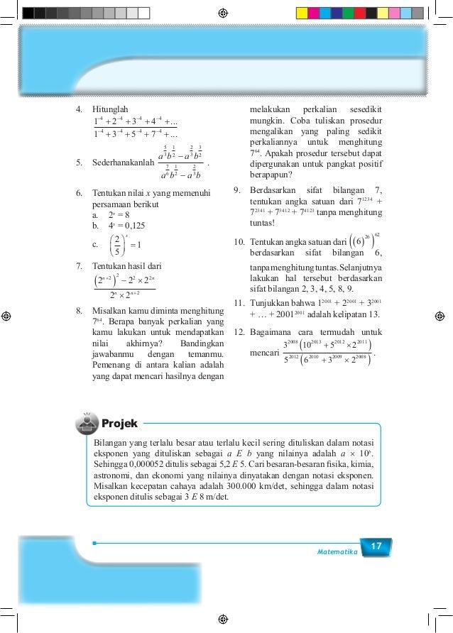 17Matematika 4.Hitunglah  1 2 3 4 1 3 5 7 4 4 4 4 4 4 4 4 − − − − − − − − + + + + + + + + ... ... 5.Sederhanakanlah a b...