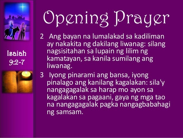 advent recollection prayer points tagalog. Black Bedroom Furniture Sets. Home Design Ideas