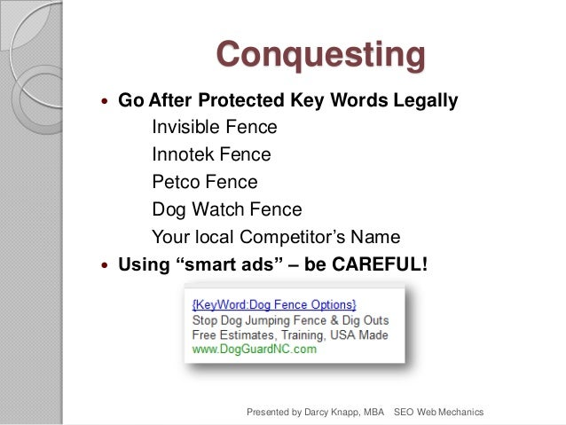 Conquesting  Go After Protected Key Words Legally Invisible Fence Innotek Fence Petco Fence Dog Watch Fence Your local Co...