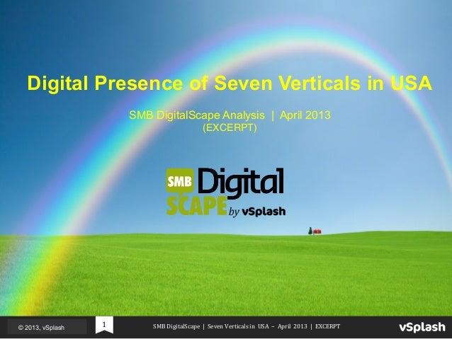 SMB  DigitalScape         Seven  Verticals  in  ...
