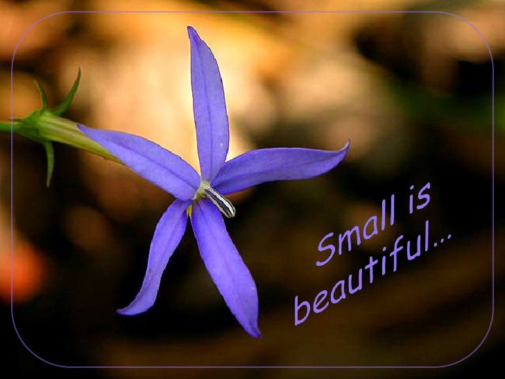 Small is beautiful…<br />