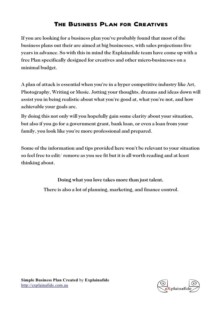 business plan for bank loan example pdf