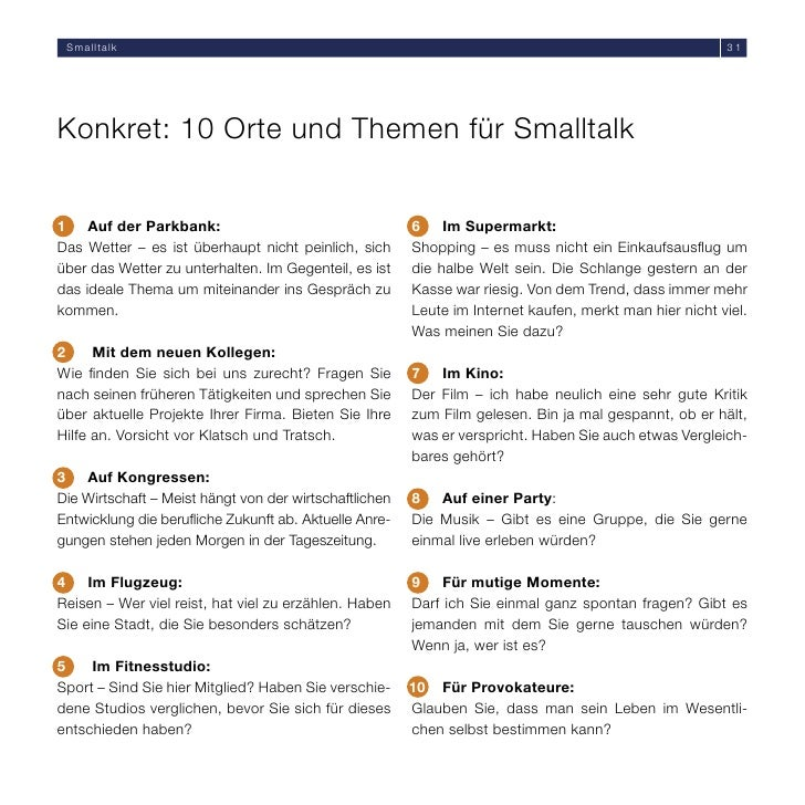 smalltalk themen liste