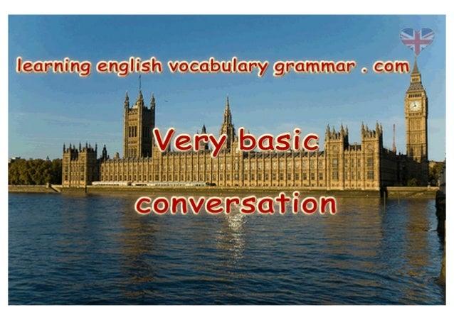 Basic English conversation video - short English conversation