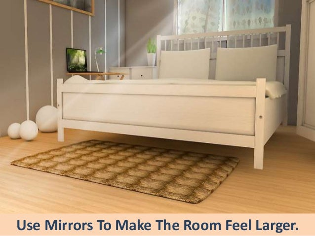 small bedroom furniture ideas.  small use mirrors to make the room feel larger and small bedroom furniture ideas