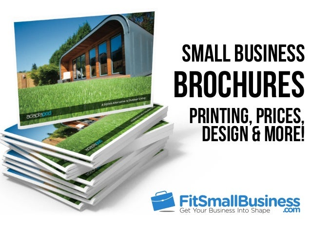 Small Business Brochures Printing, Prices, Design & More!