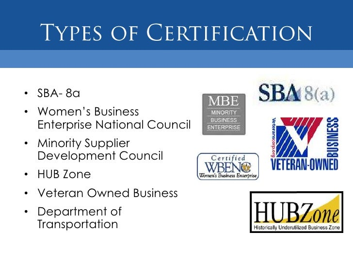 Partner Training Small Business Certifications