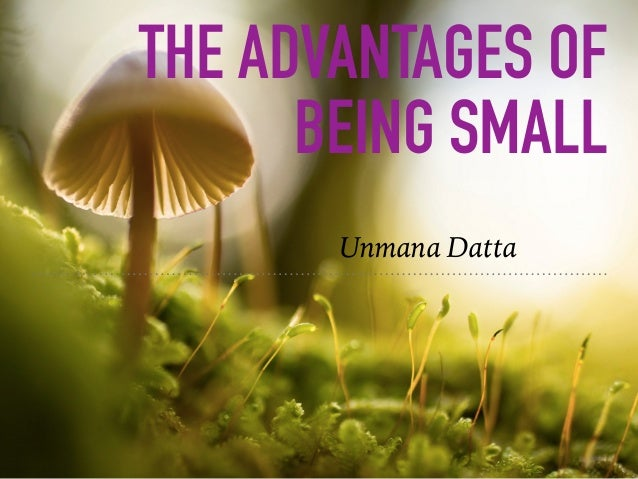 THE ADVANTAGES OF BEING SMALL Unmana Datta