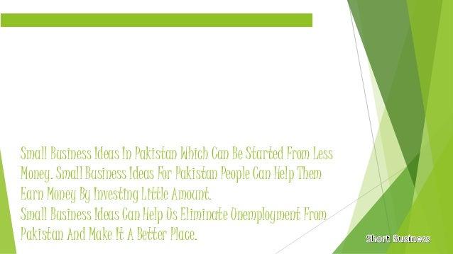 Best business options in pakistan
