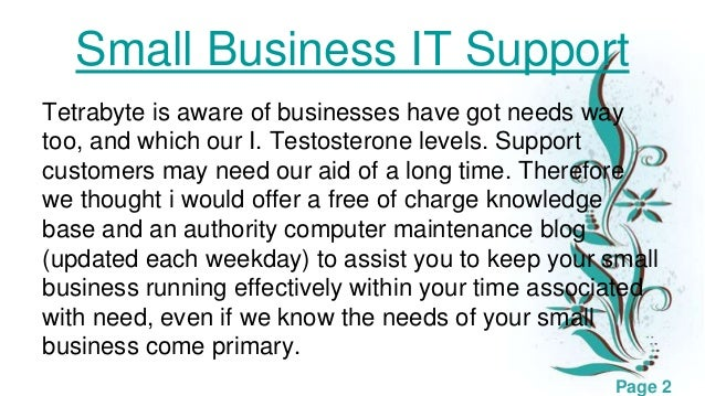 Small business it support Slide 2