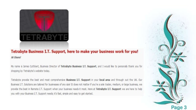 Small business it support Slide 3