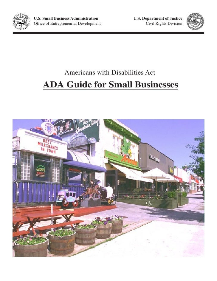U.S. Small Business Administration      U.S. Department of Justice Office of Entrepreneurial Development         Civil Rig...