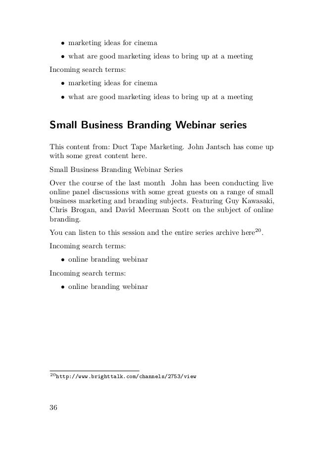 Small business marketing tips by Danielle MacInnis