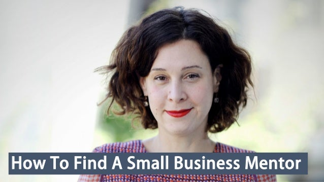 How To Find A Small Business Mentor